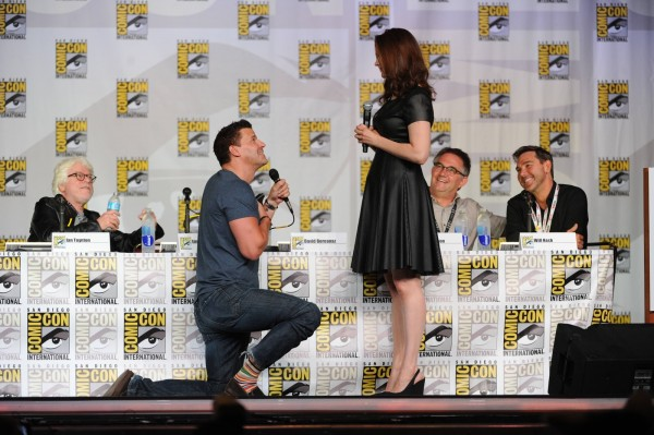 bones proposes to booth